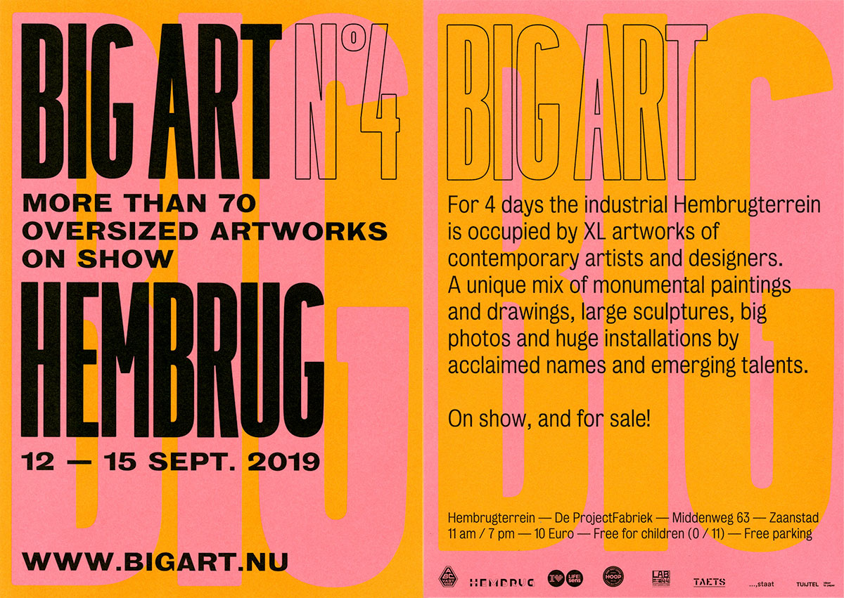 Flyer BIG ART 2019 Jacquie Maria Wessels