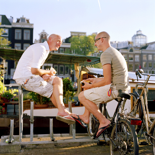 Eating in Amsterdam at the Amstel 1994 Jacquie Maria Wessels