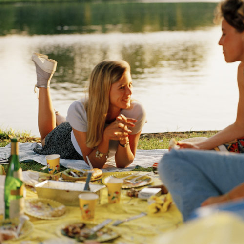 Eating in Amsterdam Vondelpark 1994 Jacquie Maria Wessels